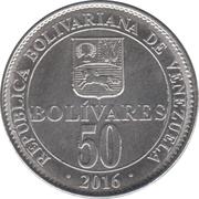 50 Bolívares – reverse
