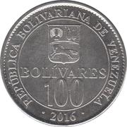 100 Bolívares – reverse