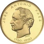 5000 Bolívares (José Antonio Páez) – obverse