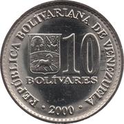 10 Bolívares (magnetic) – obverse