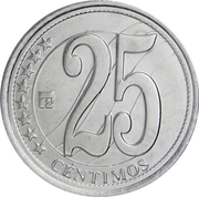 25 Céntimos (Declaration of Independence) – reverse