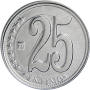 25 Céntimos (Signing of Independence) – reverse