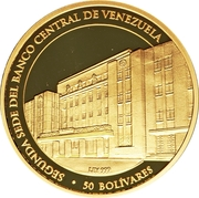 50 Bolívares (Central Bank) – reverse
