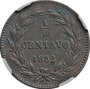½ Centavo – reverse