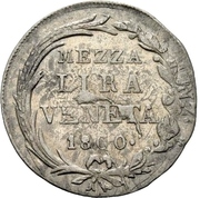 ½ Lira - Franz II – reverse