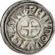 1 Denaro - Ludovico I (2 line inscription) – obverse