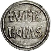 1 Denaro - Ludovico I (2 line inscription) – reverse