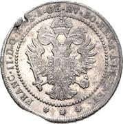 1 Lira - Franz II – reverse