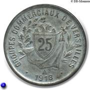 25 Centimes (Versailles) – reverse