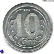 10 Centimes (Vervins) – reverse