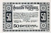 50 Heller (Viechtwang) – obverse