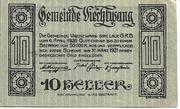 10 Heller (Viechtwang) – obverse