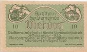 10 Heller (Viehdorf) – obverse