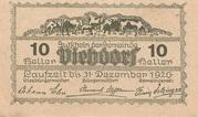 10 Heller (Viehdorf) – reverse