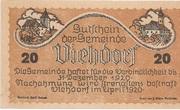 20 Heller (Viehdorf) -  obverse