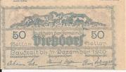 50 Heller (Viehdorf) – reverse