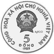 5 Đồng (Phoenix; Silver issue) – obverse