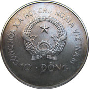 10 Đồng (World Cup Italy 1990) – obverse