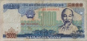 5,000 Dong – obverse