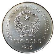 100 Đồng (Summer Olympics Seoul 1988) – obverse