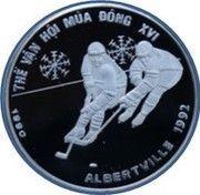 100 Đồng (Winter Olympics Albertville 1992) – reverse