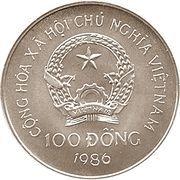 100 Đồng (Winter Olympics Calgary 1988) – obverse