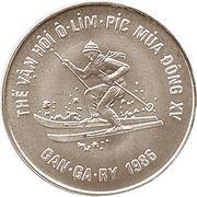 100 Đồng (Winter Olympics Calgary 1988) – reverse