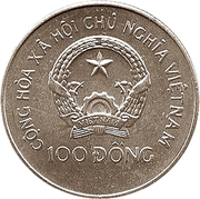 100 Đồng (UEFA Euro Germany 1988) – obverse