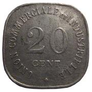 20 Centimes (Vincennes) – reverse