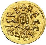 Tremissis - Recaredo I (Caesaraugusta) – obverse
