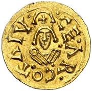 Tremissis - Recaredo I (Caesaraugusta) – reverse