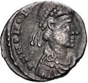 Siliqua (in the name of Honorius,Narbonne) – obverse
