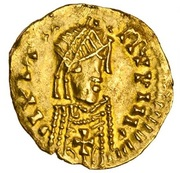 Tremissis (in the name of Justinian) – obverse