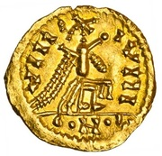 Tremissis (in the name of Justinian) – reverse