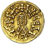 Tremissis - Recaredo I (Eliberri) – obverse