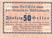 50 Heller (Vöcklamarkt) -  obverse