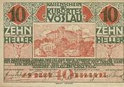 10 Heller (Vöslau) – obverse