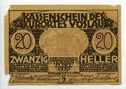 20 Heller (Vöslau) – obverse
