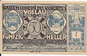 50 Heller (Vöslau) – obverse