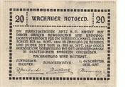 20 Heller (Wachau - Mitter Arnsdorf) -  reverse