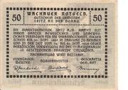 50 Heller (Wachau - Mitter Arnsdorf) -  reverse
