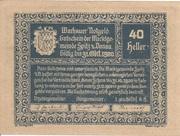 40 Heller (Wachau - Spitz) -  obverse