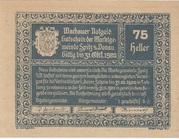 75 Heller (Wachau - Spitz) -  obverse
