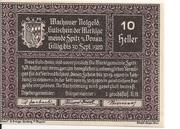 10 Heller (Wachau - Spitz) – obverse