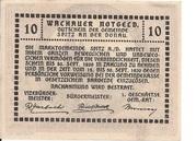 10 Heller (Wachau - Weissenkirchen) -  reverse