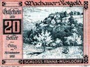 20 Heller (Wachau - Ranna-Mühldorf; Red issue) -  obverse