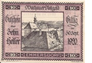10 Heller (Wachau - Emmersdorf) – obverse