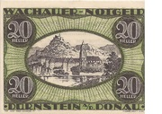 20 Heller (Wachau - Dürnstein) – obverse
