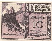 10 Heller (Wachau - Aggstein) – obverse