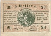 20 Heller (Waidendorf) – obverse